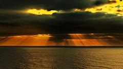 IMG_0190 Mr Sunshine...and from above you give us light (Rodolfo Frino) Tags: light beam sun sunshine ray sunrise yellow orange yellowsky orangesky