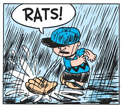 RATS! (Tom Simpson) Tags: peanuts charliebrown comics comicstrip vintage illustration charlesschulz charlesmschulz rain raining baseball funny 1955 1950s art