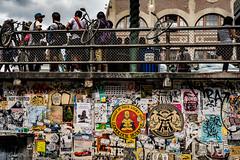 Your Lucky Day (Culinary Fool) Tags: sticker man streetart 23mm culinaryfool july poster 2016 brendajpederson postalley graffiti bike pikeplacemarket boy fence washington wa seattle downtown