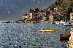 Perast 2 (shottwokill) Tags: europe travel nikon montanegro perast nikkor 28300 scenic bayofkotor d800 coastline mountians haze bluewater sunlite cove