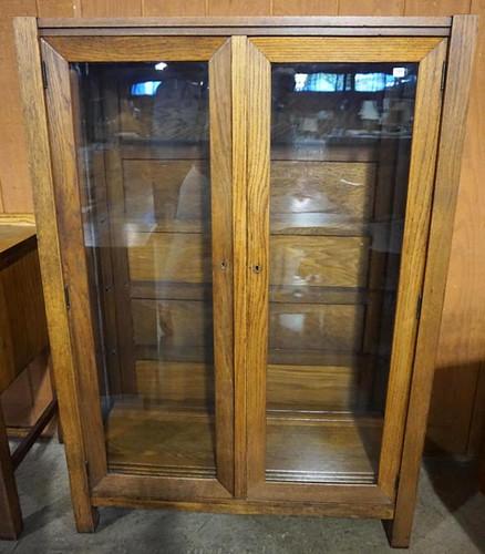 Oak Arts & Crafts Glass Front China Press ($392.00)