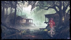 The Woodwoman (alexandra wardark) Tags: fantasy forest swamp smoke smoking secondlife sl