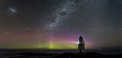Waipapa_Point_Lighthouse_26L7626-P3E (Digital Negative) Tags: blue colour color stars aurora australis invercagill southland waipapa waipapapoint lighthouse sea seashore green red purple