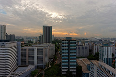 DSC04577_DxO (teckhengwang) Tags: sunrise landscape singapore angle wide ultra a850 sal20f28