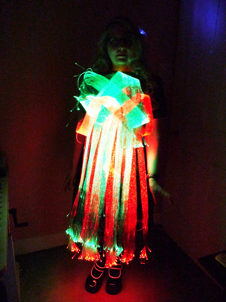 The Worlds Newest Photos Of Wearable And Wearables Flickr Hive Mind Mannequin Costume Lighting Electronics Thinkerbelle Fibre Optic Eeg Dress Rain Rabbit Tags Technology