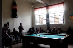 Billiards, a popular pastime in #Asmara, #Eritrea.