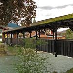 Garmisch - Die Altstadt (17) - Holzbrücke über die Loisach thumbnail