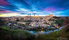 Toledo en la hora azul (Photognlez) Tags: viaje noche valle toledo nocturna urbano vistas febrero mirador panormica 2015