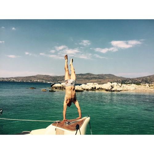 Our #skipper went crazy! #ribcruises #fun #summer #boat #rentaboat #greekislands