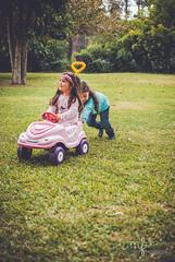 (http://www.istockphoto.com/portfolio/Maria-F) Tags: trees girls portrait green car childhood playground t toy happy backyard child play happiness