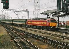 "English Welsh & Scottish Railways Class 47/7, 47787 ""Windsor Castle"" (37190 ""Dalzell"") Tags: spoon brush crewe duff windsorcastle revised sulzer ews class47 type4 railnet 47610 47823 maroongold class477 47787 englishwelshscottishrailway 47163 d1757"