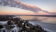 Line of Clouds : March 17, 2016 (jpeltzer) Tags: clouds reflections ottawa ottawariver myview