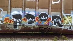Adore (Randall 667) Tags: street urban art car train island graffiti artwork artist exploring tracks east providence writer rhode dip adore freight tagger ador