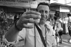 Tea, the morning ritual (Rahul Gaywala) Tags: street morning india white black monochrome mono tea drink gujarat surat foreigner