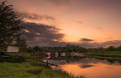 Arundel castle (Tractorboy1981) Tags: uk sunset england west castle river landscape boats sussex ngc arundel arun