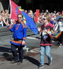 Waving the Same flag (bokage) Tags: sweden stockholm dancer parade same lapp etnicity bokage