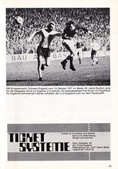 Switzerland vs England - 1981 - Page 35 (The Sky Strikers) Tags: world england cup st schweiz switzerland official basel 150 jakob fr programme offizielles programm qualifier fussballstadion