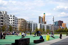 the new Berlin (simon_berlin62) Tags: life park street city people colour berlin playground skyline kreuzberg germany schneberg children deutschland photography europe view sony hauptstadt families potsdamerplatz 5000 alpha mitte tiergarten stadtpark neubau neubauten gleisdreieck  2016 ilce   gleisdreieckpark