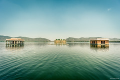 Jal Mahal - Water Palace. Temple on a lake. Buildings on a water. Jaipur, India (tr4live) Tags: old city travel summer sky india lake man reflection building history tourism nature water beautiful architecture clouds landscape outdoors temple colorful asia view angle indian famous hill wide scenic mahal landmark palace hinduism jaipur jal rajasthan sagar rajastan