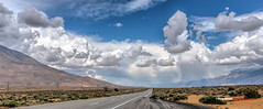 Clouds on 395 Pano (Bob Kent) Tags: california blue clouds canon landscape sierra 5d bigsky hwy395 hdr 395 bobkent bobkentphotographycom