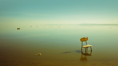 Lost Somewhere In Your Mind (Israel Woolfolk) Tags: california landscape lost chair surreal dali emotive saltonsea bombaybeachruins