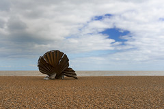 Aldeburgh beach (Sonyman45) Tags: blue sea white beach water clouds boats skies oyster hdrsky