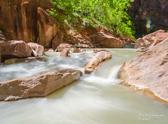 Rapid VR (bryanfisherphoto) Tags: park sun clouds river rocks view cliffs virgin national zion zionnp canyons
