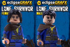 Lone Survivors (eclipseGrafx) Tags: lego accessories custom shelter printed soon survivor fallout brickarms eclipsegrafx