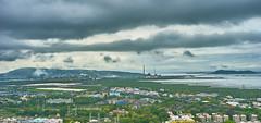 Mumbai Skyline 58 (Vidur Malhotra) Tags: city urban station skyline clouds power cityscapes rainy views bombay highrise mumbai dadar
