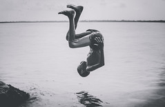 Form of Resilience! (T A S F I Q) Tags: summer blackandwhite bw water youth 35mm river fun kid jumping nikon upsidedown outdoor horizon joy research enjoy memory moment playful refreshment resilience 2016 frontflip fastclick barisal iamnikon gibika tasfiqmahmood2016