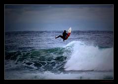 Dismount (Seeing Things My Way...) Tags: surf surfing surfer waves beach sea seaspray spray gariebeach nsw australia