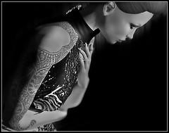Lotus. (MISS V ANDORRA 2016 - MISSVLA ARGENTINA 2017) Tags: portrait woman pose blackwhite tattoos topmodel queenofink