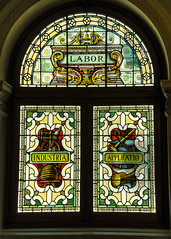 Labor (Canadian Dragon) Tags: windows light summer canada bc labor august stainedglass victoria vancouverisland industria legislature parliamentbuildings 2015 applicatio dschx5c