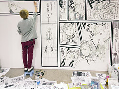 Mangaka (Design Festa) Tags: art japan illustration japanese tokyo artwork drawing manga tokyobigsight artfestival mangaka livepainting japanartfestival japaneseartfestival japanesemangaillustration