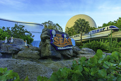 It's Monorail Monday! (DsnyCpl) Tags: epcot monorail waltdisneyworld findingnemo waltdisneyworldmonorail theseaswithnemoandfriends epcotmonorail tamron18270mm canon70d monorailmonday
