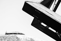 Geometrical shapes (lorenzoviolone) Tags: blackandwhite bw italy abstract roma monochrome architecture blackwhite reflex nikon contemporary streetphotography structure dome streetphoto dslr antennas lazio contemporaryarchitecture agfascala200 vsco d5200 streetphotobw nikond5200 vscofilm photomarathon:rome=2016