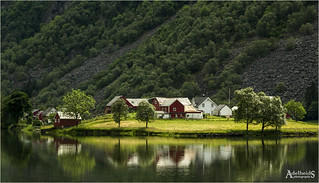 Fjordside farm, Norway