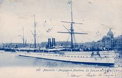 1893-1905- SALAZIE en sortie d eMarseille (MIKOS-35) Tags: les paquebots postes des messageries avaient une livre blanche lorsquils taient sur la ligne dextrmeorient sagon japon et coque noire autres lignes