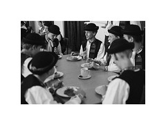 lunch (Marek Pupk) Tags: bw film boys monochrome analog canon lunch europe central documentary meal slovakia ilford