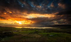 Light Show (GenerationX) Tags: sunset sky sun mountains water alexandria clouds landscape evening scotland unitedkingdom dusk scottish neil fields rays loch drama benlomond trossachs balloch lochlomond barr luss duncryne bestview conichill smallhill