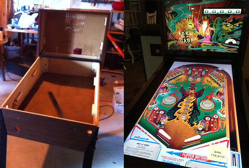 Real pinball machine converted to digital