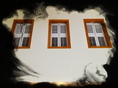 Cloud windows (SteveMather) Tags: windows cloud wooden shed ceiling shutters 4s iphone 2015 anthropics smartphotoeditor