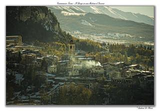 Caramanico Terme - Il Borgo in una Mattina d'Inverno