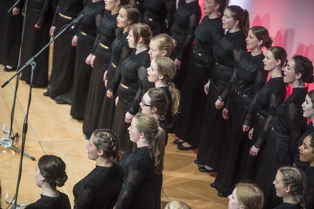 Danish National Girls Choir sings at reception