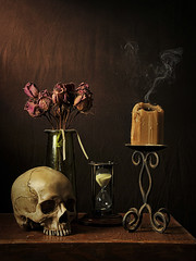 Vanitas Veritas (John Adkins II) Tags: vanitas veritas vanitasveritas stilllife dutch painting skull flowers hourglass candle strobist theartistseyes nikond300 nikon18200vr nikonsb800 nikoncls nikonsb910 lastoliteezybox