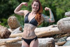 Preparing for BCs 2016 (KaseyEriksen) Tags: beach beauty smile tattoo photoshoot muscle daughter competition tattoos bikini bodybuilder fitness nationals bcs lanabanana lanabananafitness