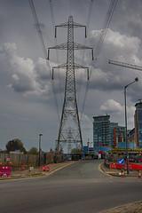 Docklands Walk May 2016 (6 of 78) (johnlinford) Tags: building london landscape construction scaffolding pylon scaffold docklands hdr