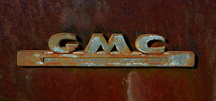GMC (davidwilliamreed) Tags: old abandoned metal truck emblem rust decay neglected rusty forgotten weathered crusty gmc patina