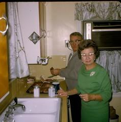1969 - Ejnar & Ruth Madsen in 1402 Fairfax Akron Kitchen