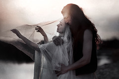 come away (ESPRIT CONFUS) Tags: wedding dark bride couple fineart ghost sensual emotional melancholy emotions longing melancholic parting
